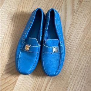 Louis Vuitton blue loafer. Size LV 40